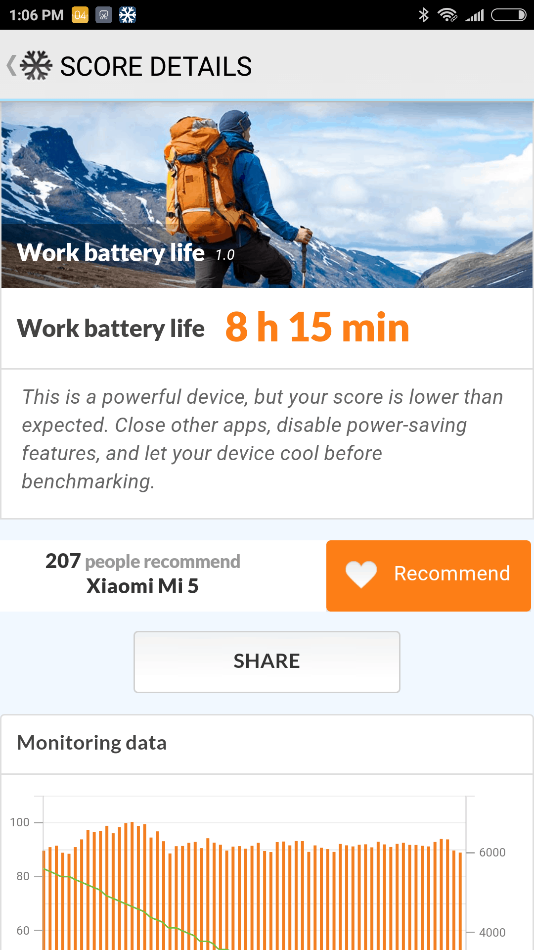 Xiaomi Mi 5 screenshots battery test