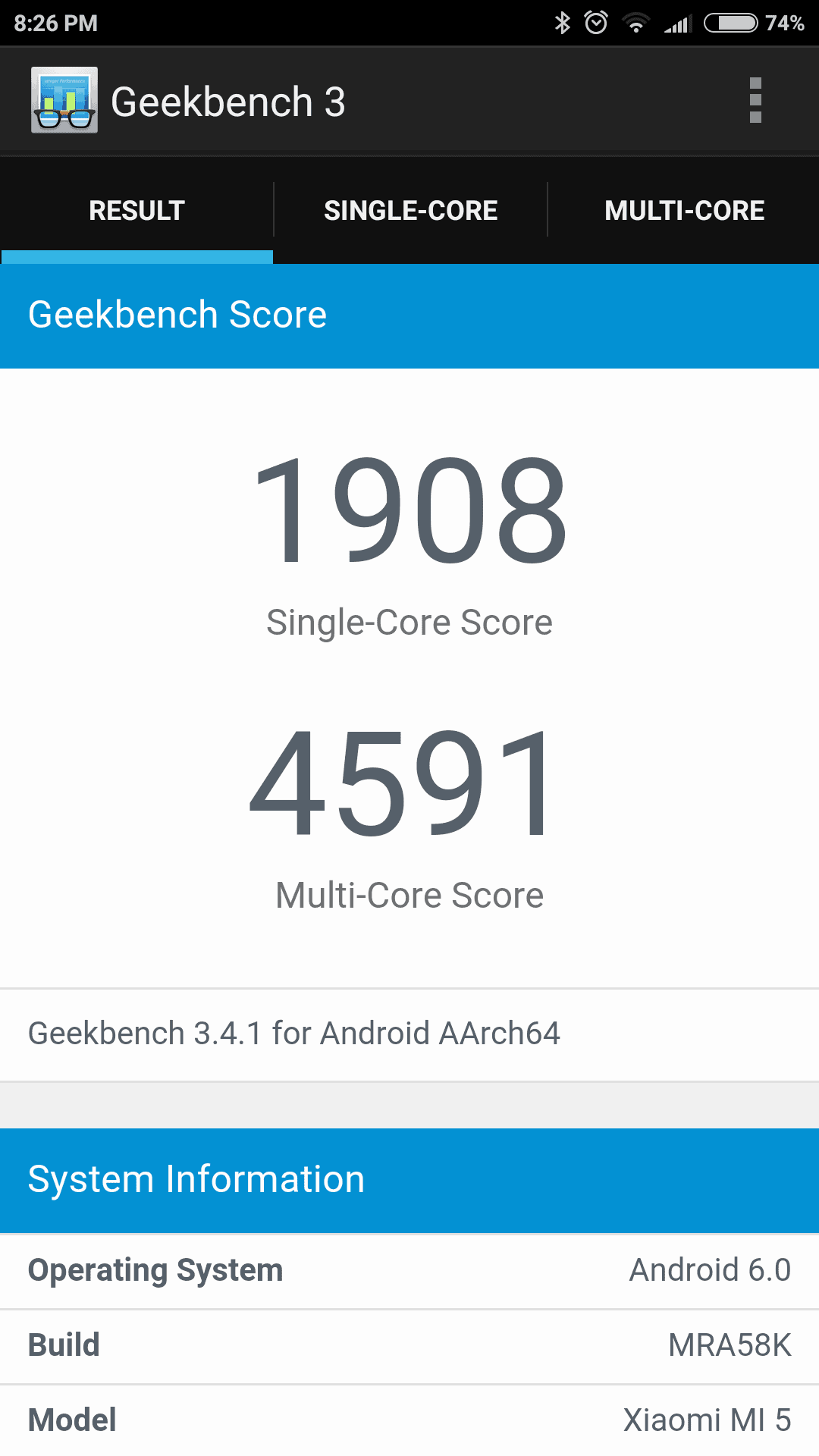 Xiaomi Mi 5 screenshots benchmark 1