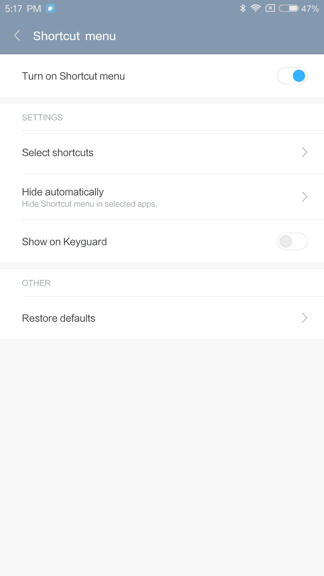 Xiaomi Mi Max AH NS Screenshots shortcut menu 1