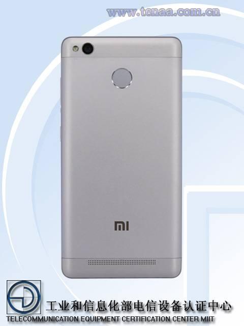 Xiaomi Redmi 3A 3S TENAA 2