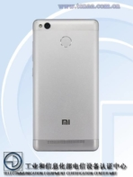 Xiaomi Redmi 3A 3S TENAA 6