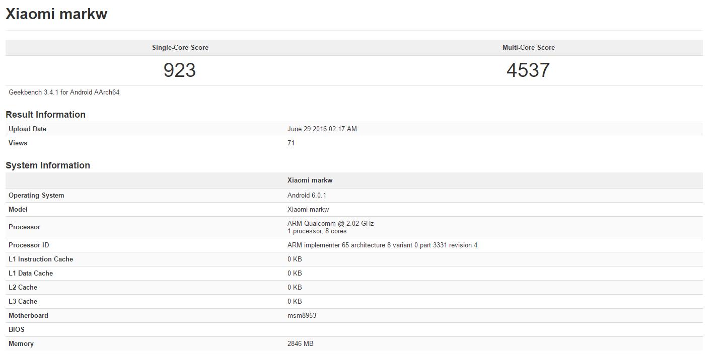 Xiaomi_markw_Geekbench