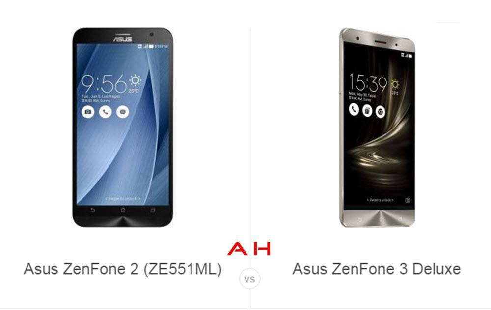 ZenFone 2 vs ZenFone 3 Deluxe cam AH