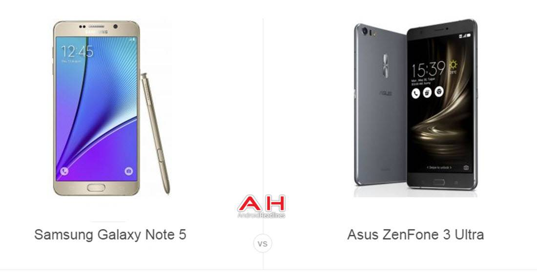Galaxy Note 5 vs ZenFone 3 Ultra cam AH