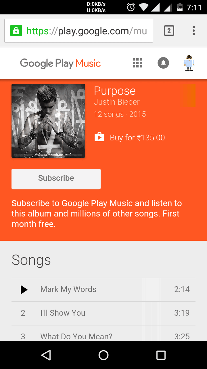 Google Play Music India KK 2