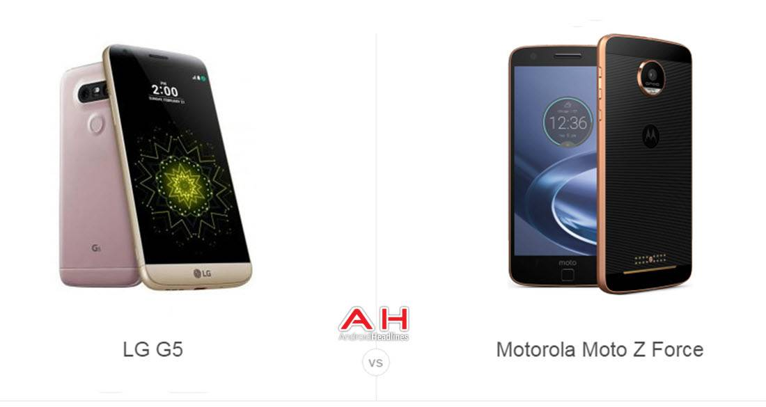 LG G5 vs Moto Z Force cam AH