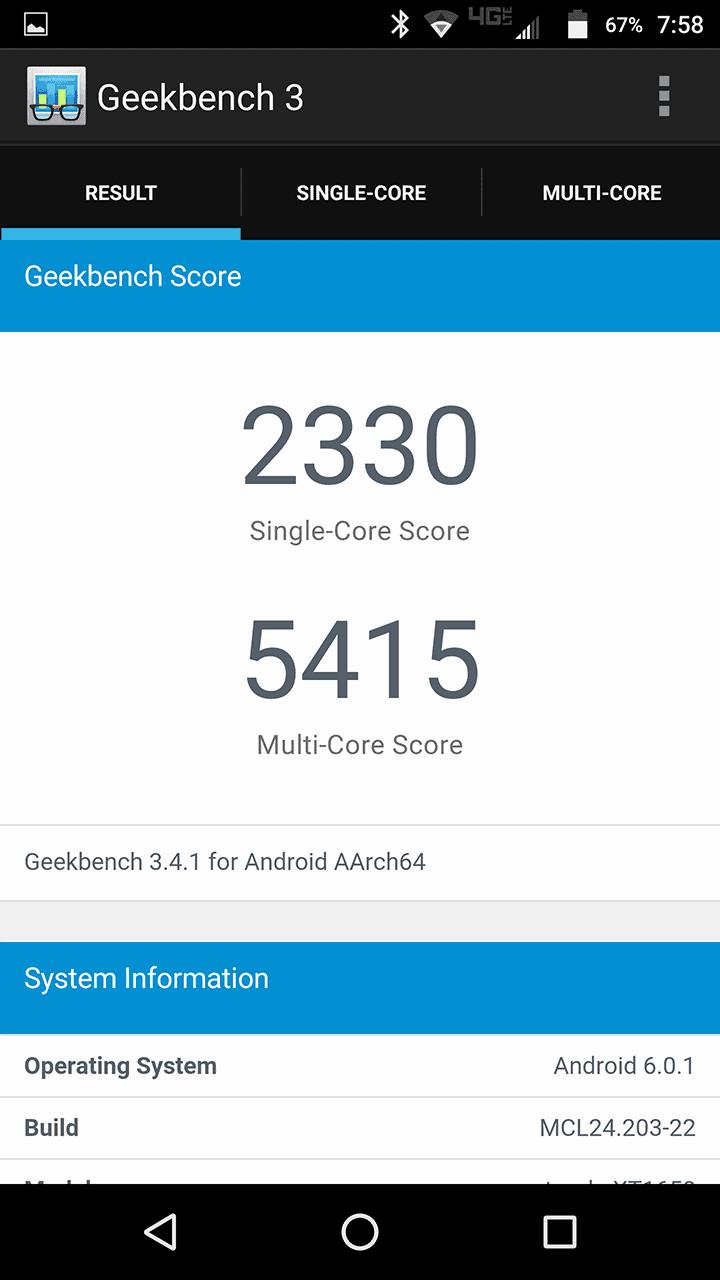 Motorola Lenovo Moto Z Force screenshots benchmark 06