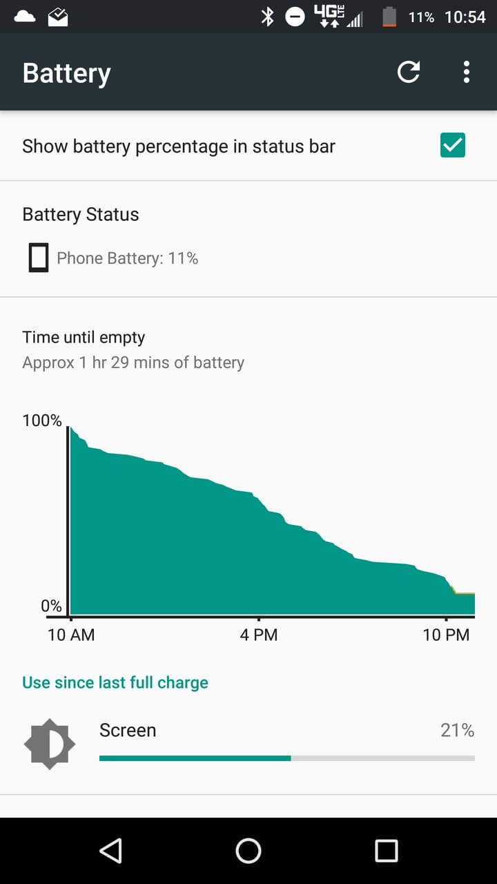 Motorola Lenovo Moto Z Screenshots battery 1