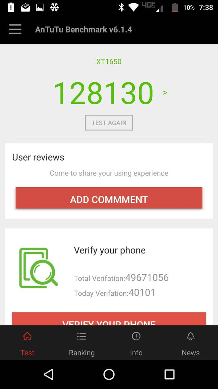 Motorola Lenovo Moto Z Screenshots benchmark 4