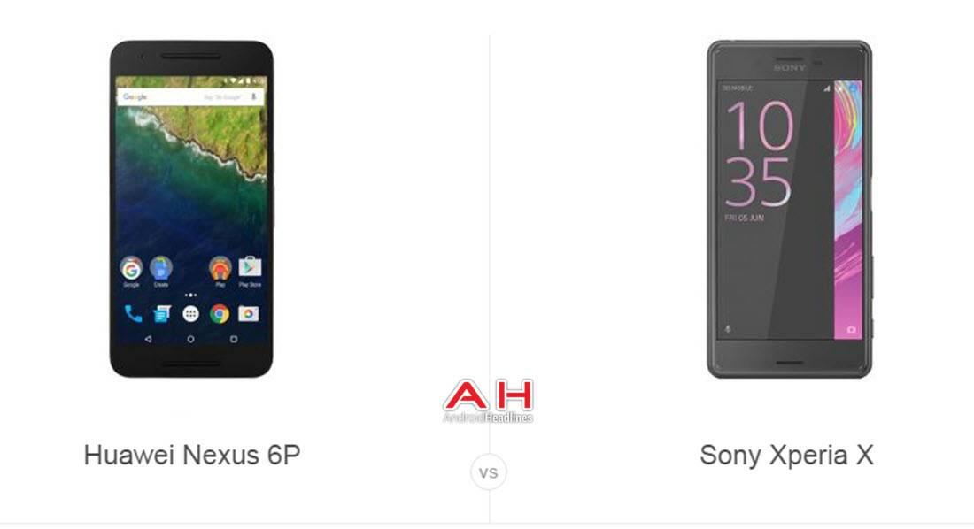 Nexus 6P vs Xperia X cam AH