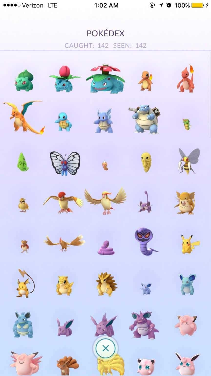 Pokemon Go Pokedex 142 KK