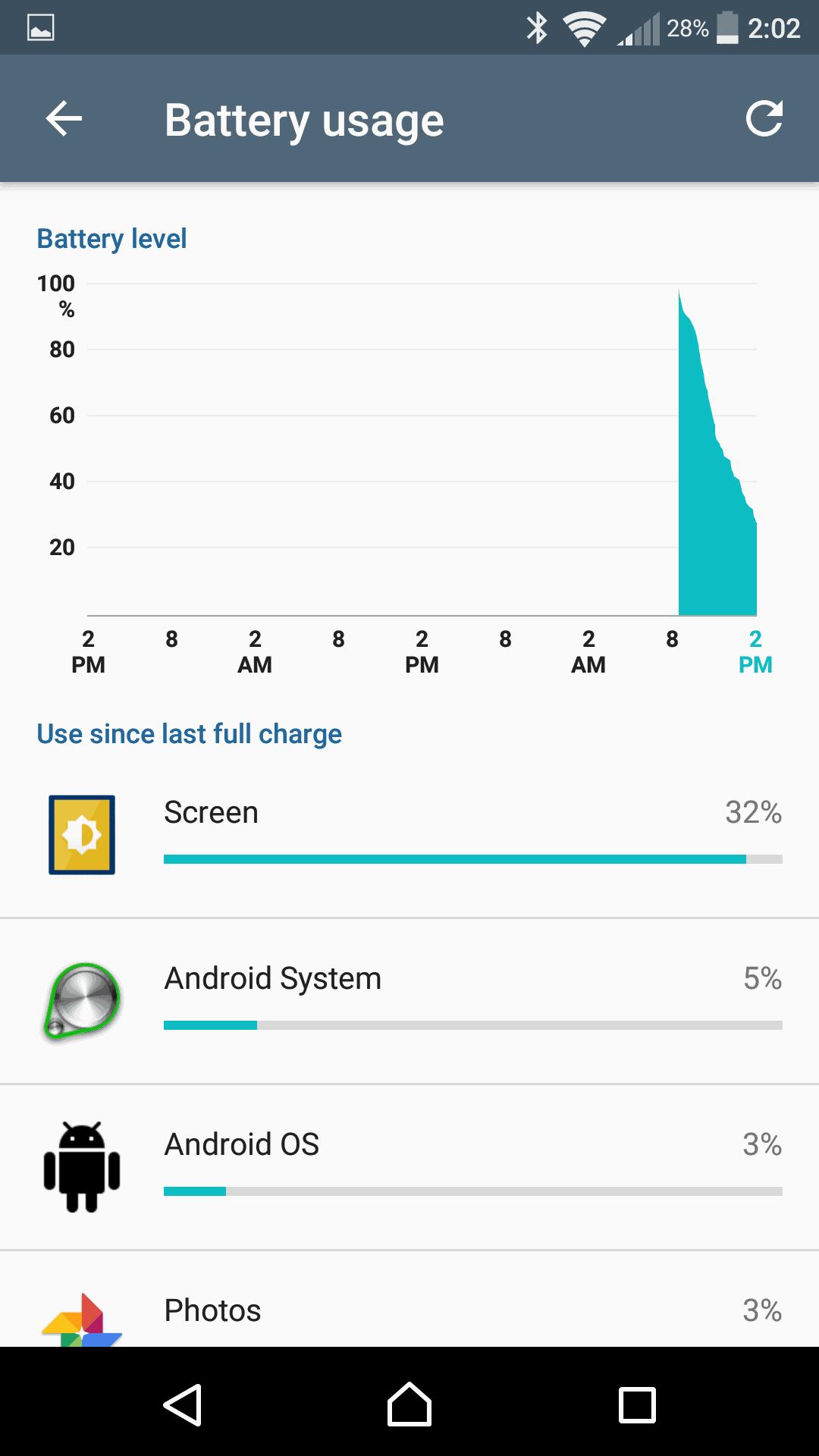 Sony Xperia X Performance AH NS Screenshots battery 2
