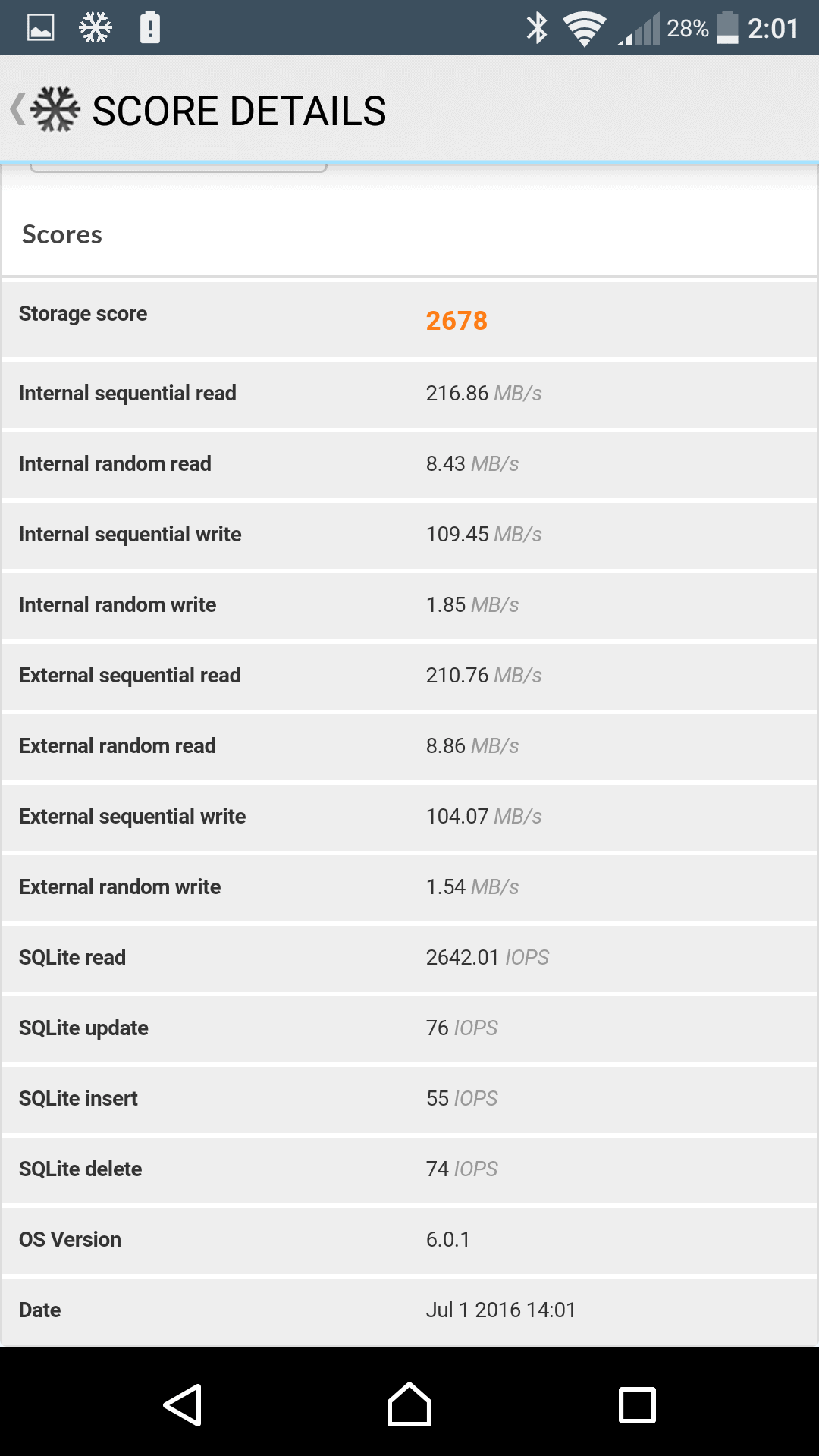 Sony Xperia X Performance AH NS Screenshots benchmark 6
