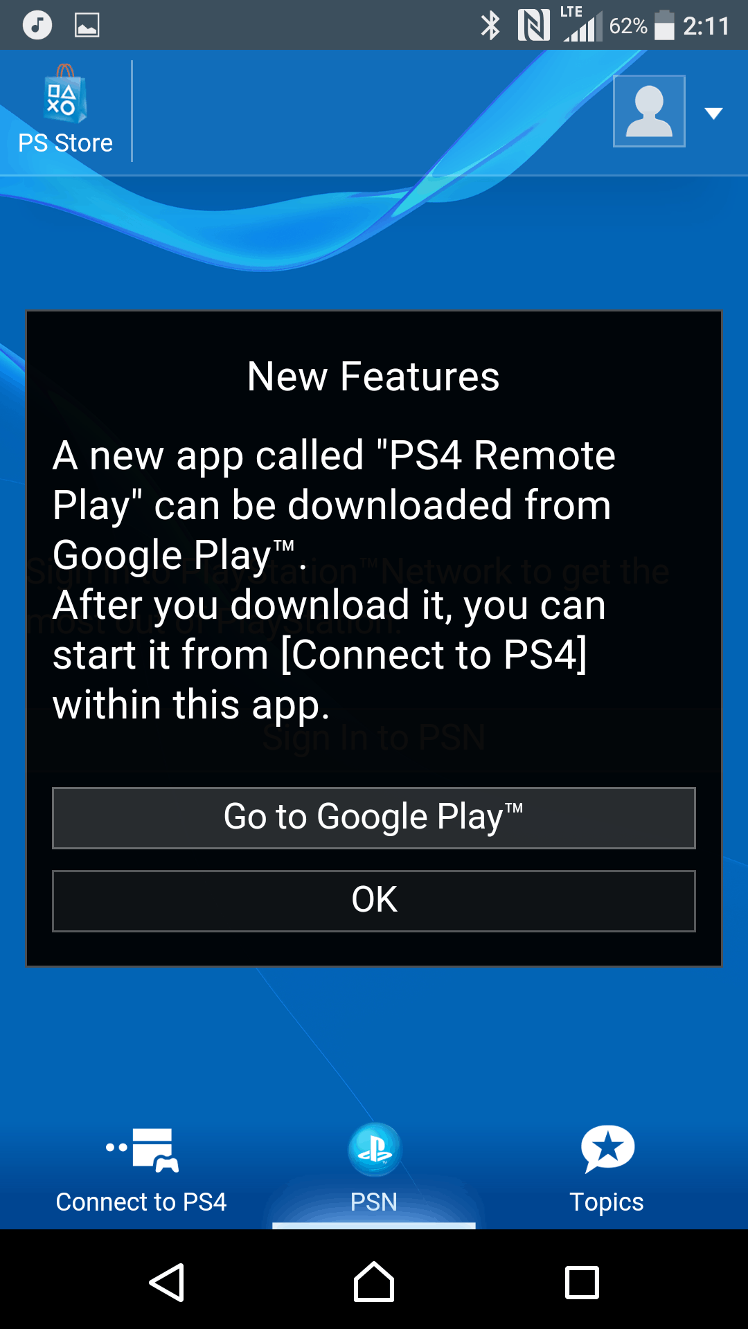 Sony Xperia X Performance AH NS Screenshots playstation app 1
