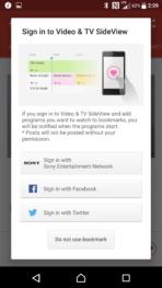 Sony Xperia X Performance AH NS Screenshots tv app 3