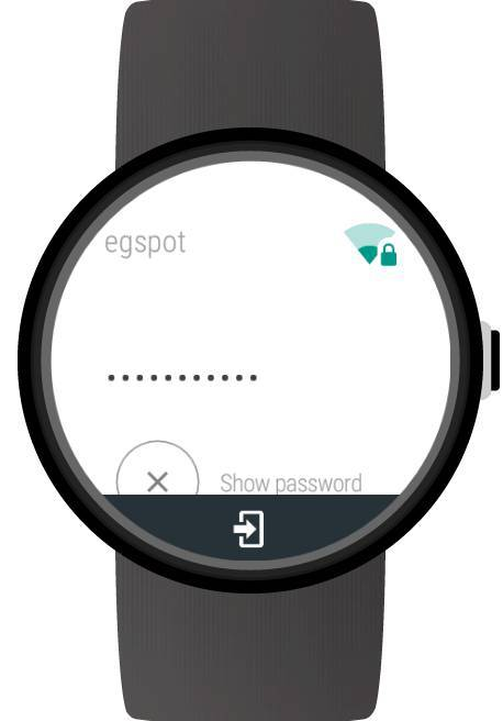 Log In To Networks Via Wifi Manager For Android Wear