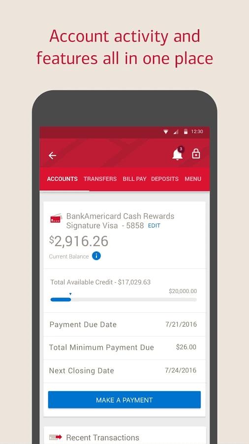 bank of america v7 2