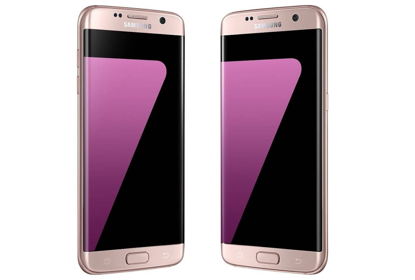 samsung galaxy s7 edge now available in pink for 749. Black Bedroom Furniture Sets. Home Design Ideas