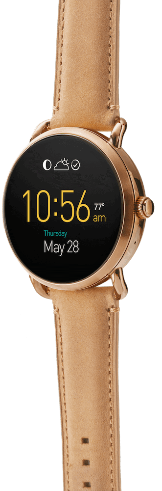 Fossil Q Wander Leather