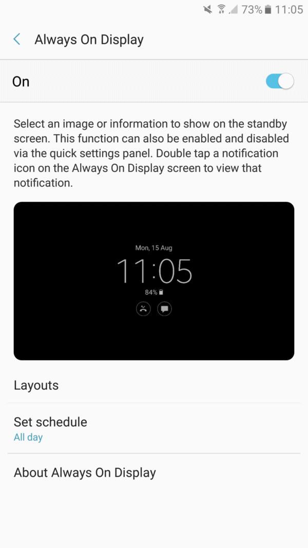 Galaxy Note 7 Always On Display screens (7)