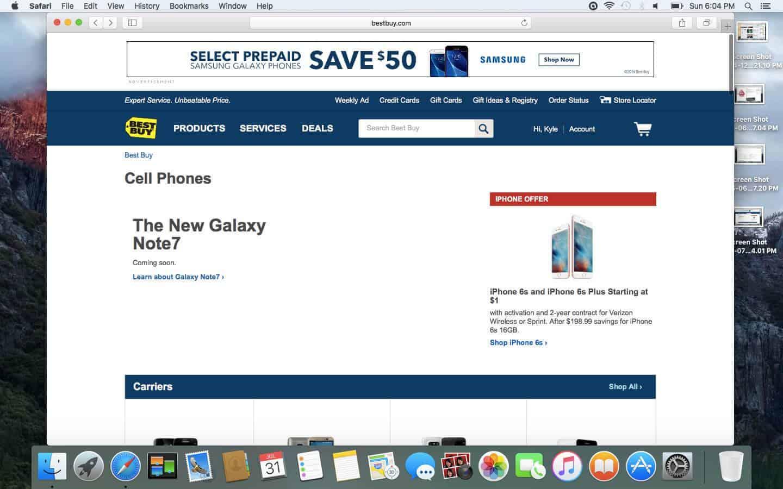 Galaxy Note 7 Best Buy leak KK