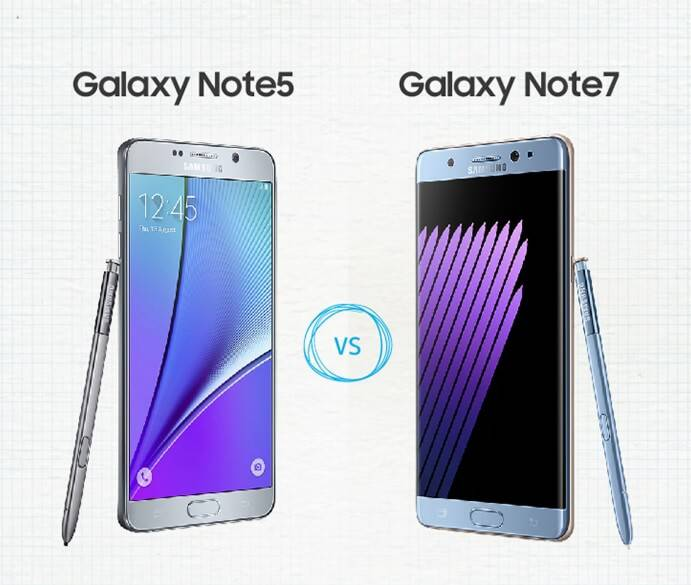 Galaxy Note 7 vs Note 5