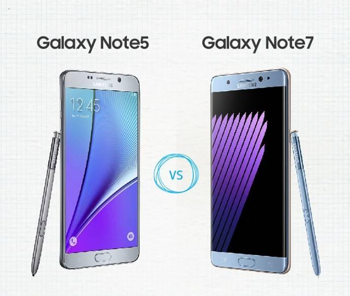 Galaxy Note 7 vs Note 5