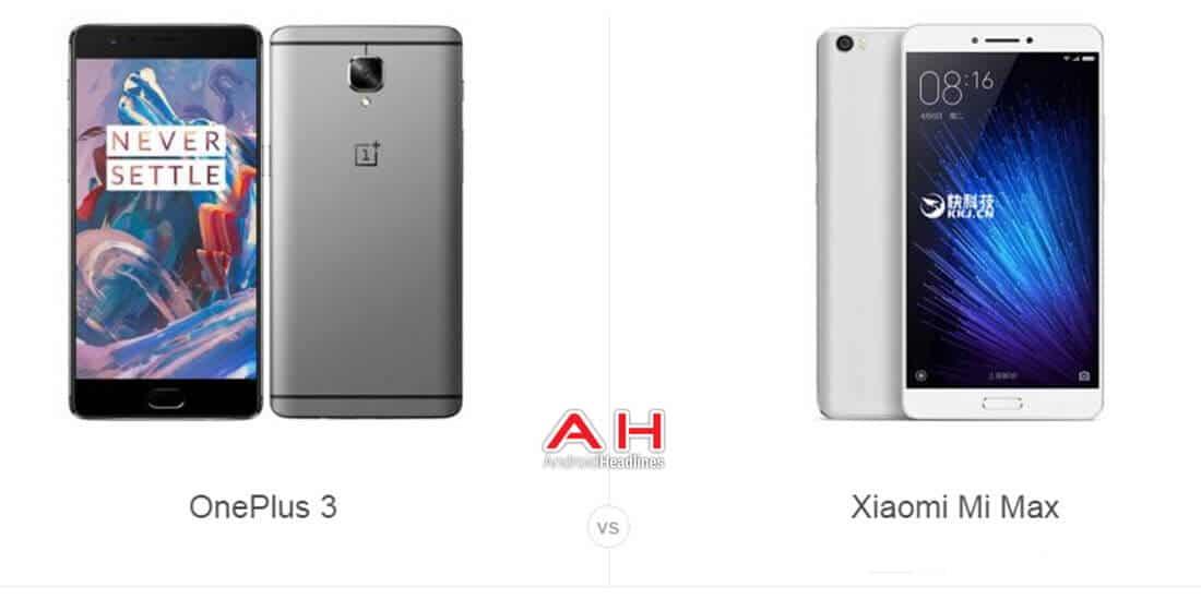 OnePlus 3 vs Xiaomi Mi Max cam AH