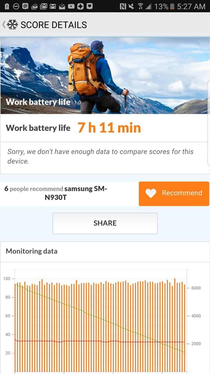 Samsung Galaxy Note 7 AH NS screenshots battery test