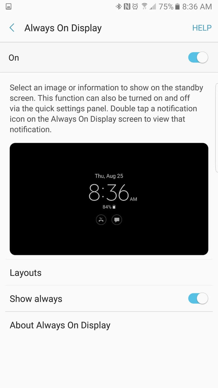 Samsung Galaxy Note 7 AH NS screenshots display 2