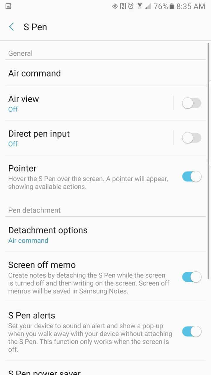 Samsung Galaxy Note 7 AH NS screenshots s pen 04