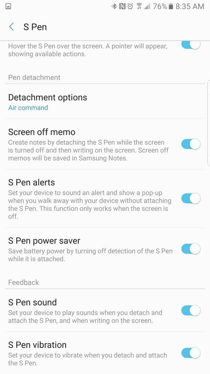 Samsung Galaxy Note 7 AH NS screenshots s pen 05
