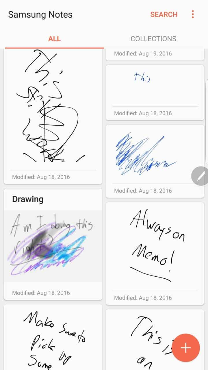 Samsung Galaxy Note 7 AH NS screenshots s pen notes 01