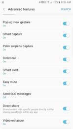 Samsung Galaxy Note 7 AH NS screenshots ui advanced