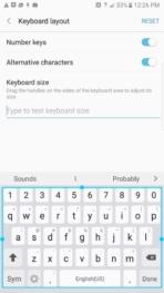 Samsung Galaxy Note 7 AH NS screenshots ui keyboard