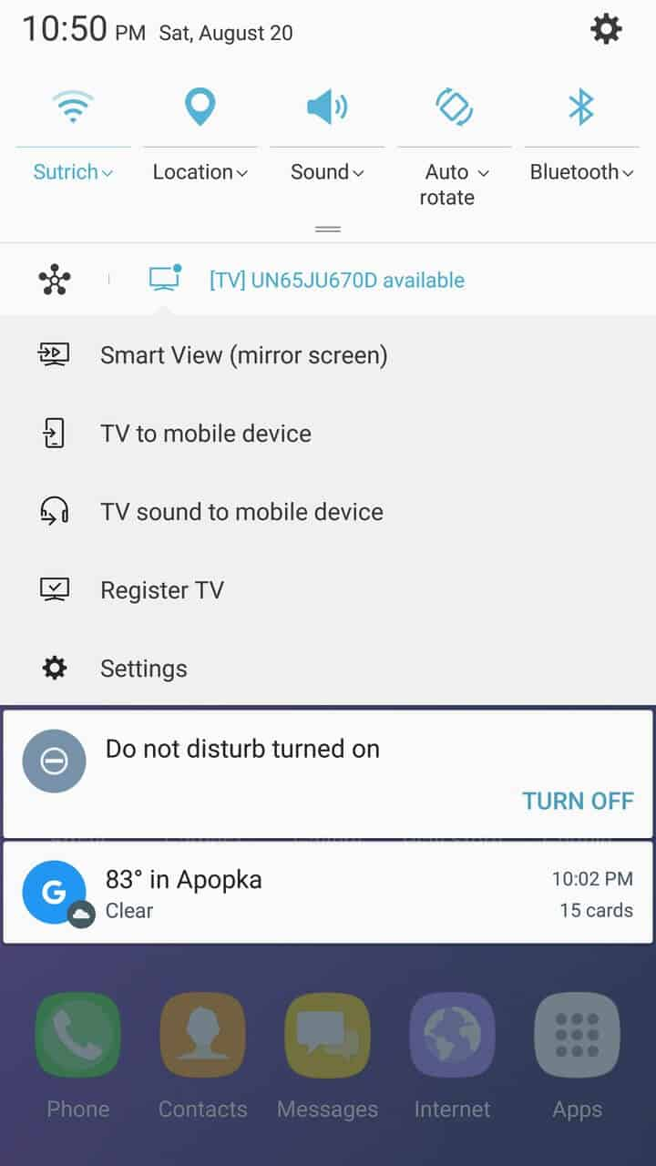 Samsung Galaxy Note 7 AH NS screenshots ui notification 01