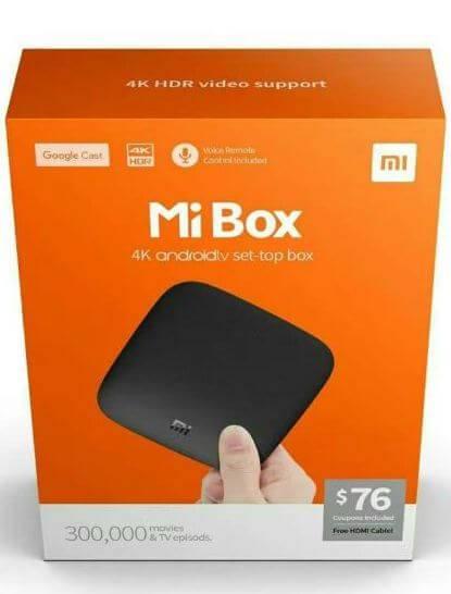 xiaomi 4k hdr mi box android tv set top box
