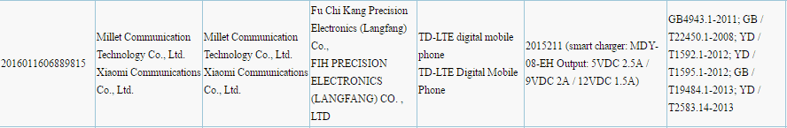 Xiaomi Mi Note 3 3C certification_1