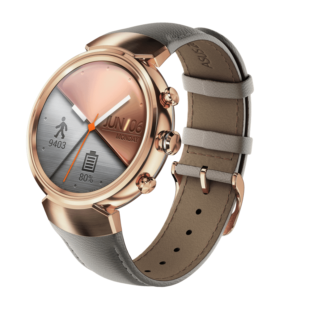 ZenWatch 3 Rose gold with leather WI503Q