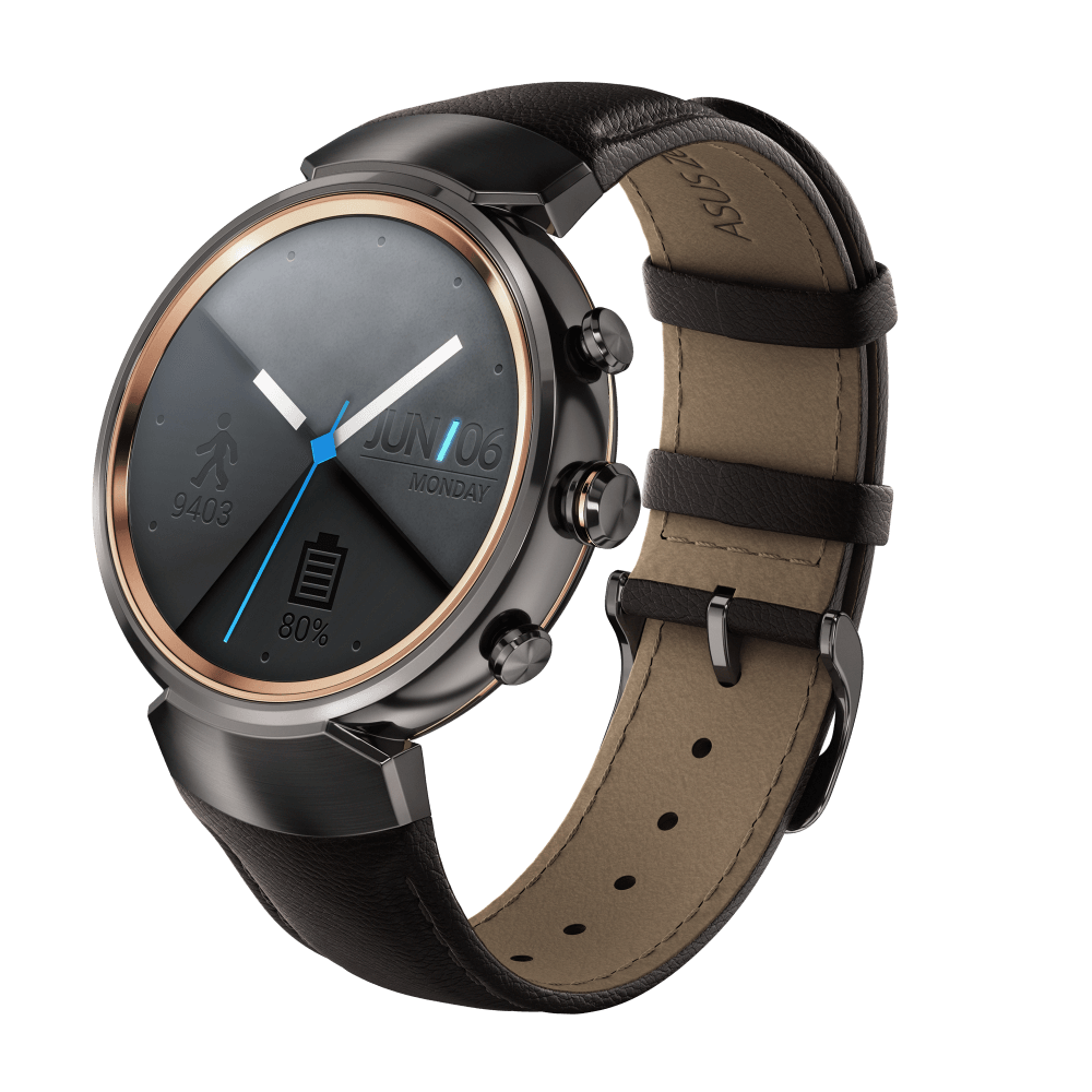 ZenWatch 3 Gunmetal with leather