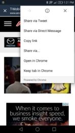 Chrome Beta Keep Tab screens AH 1