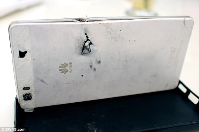 Huawei P8 Lite saves a mans life 2