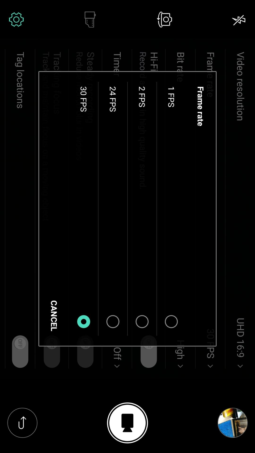 LG V20 AH NS screenshots camera manual video options 3