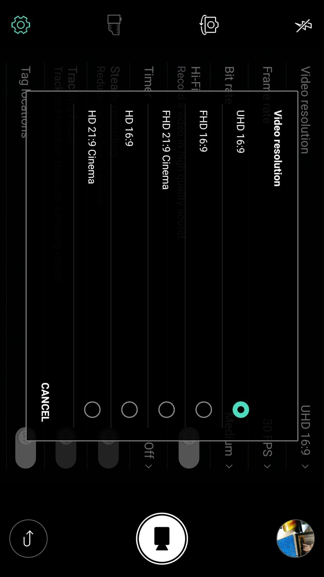 LG V20 AH NS screenshots camera manual video options