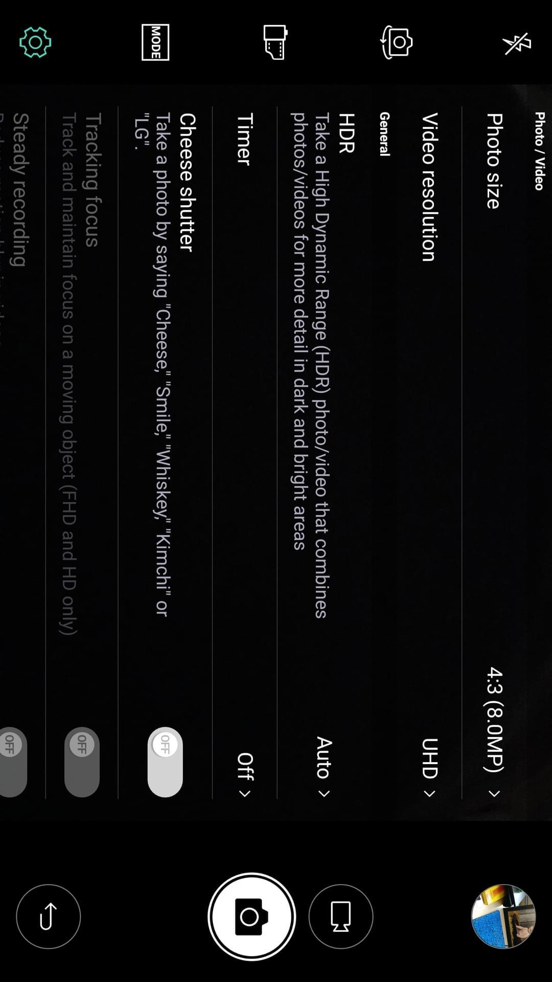LG V20 AH NS screenshots camera options 1