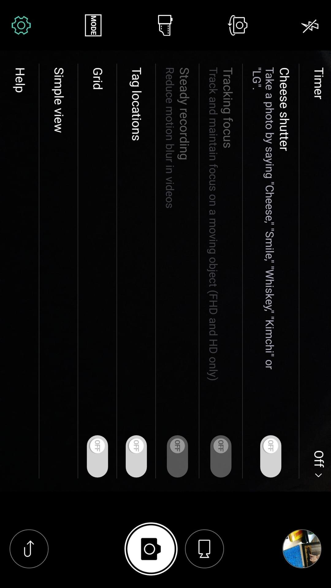 LG V20 AH NS screenshots camera options 2