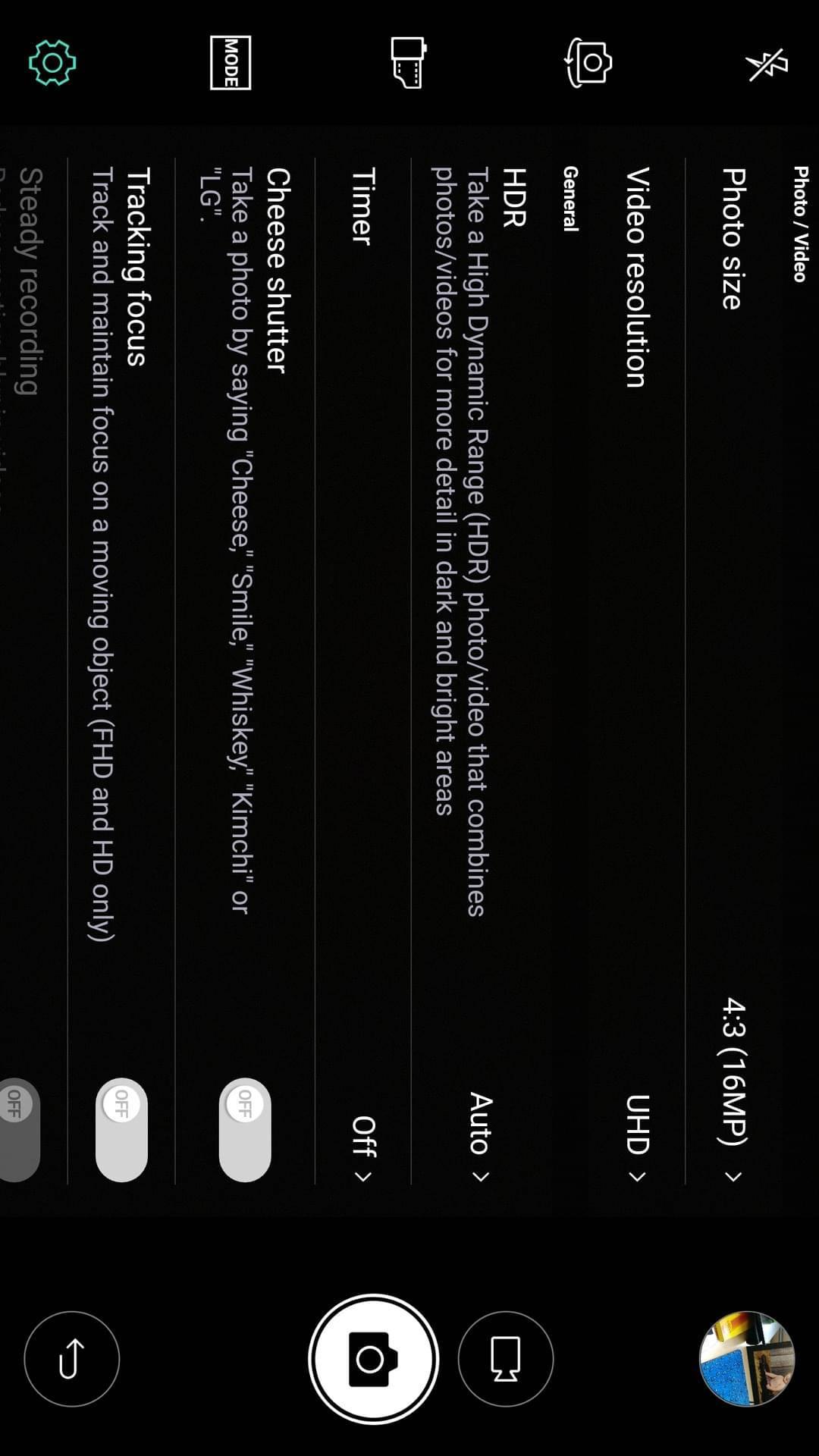 LG V20 AH NS screenshots camera options 3