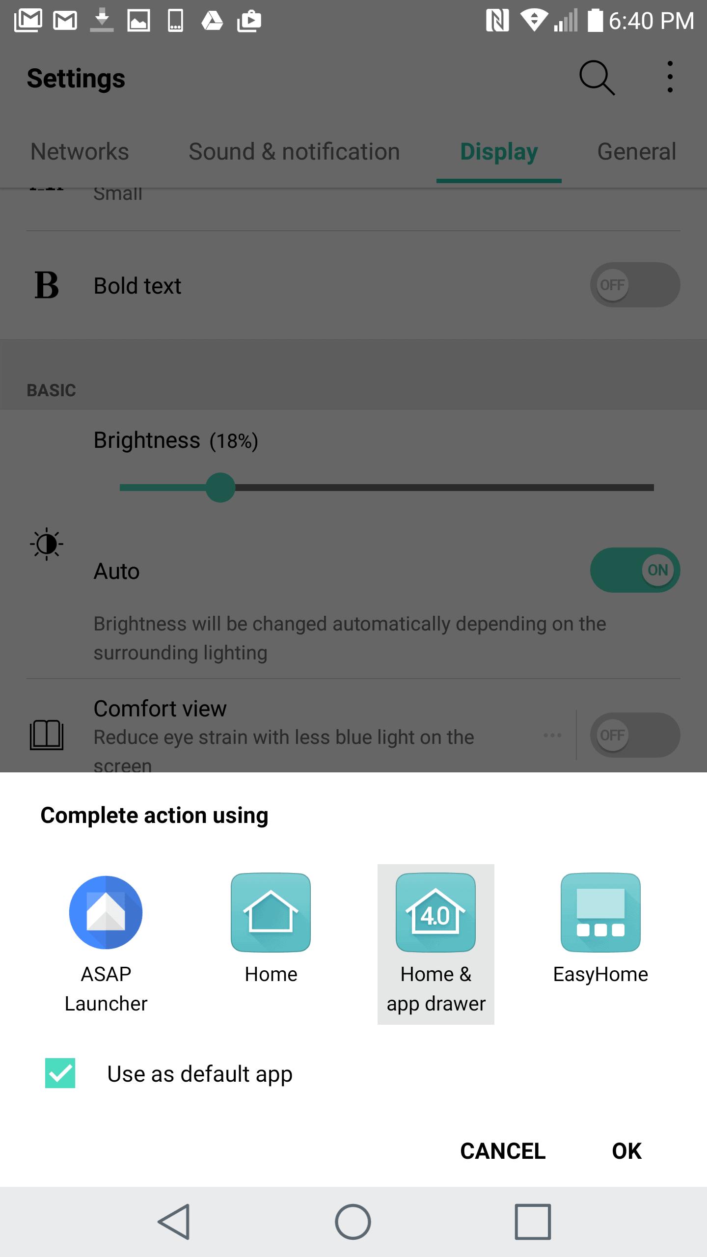 LG V20 AH NS screenshots launchers