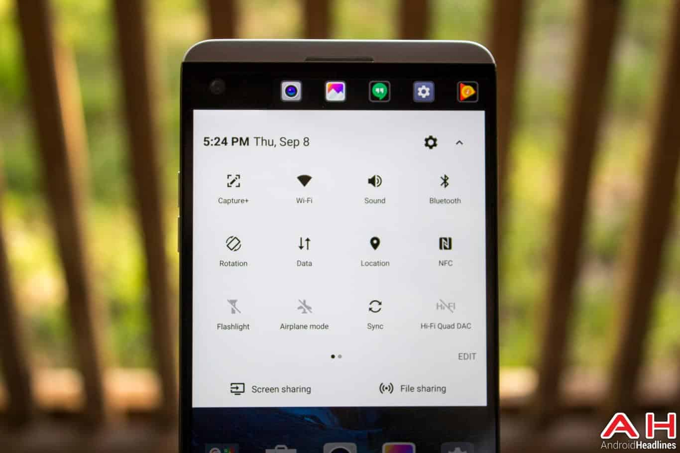 LG V20 AH NS ui notifications