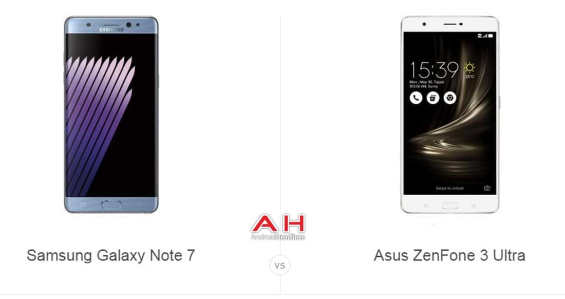 Note 7 vs ZenFone 3 Ultra cam AH
